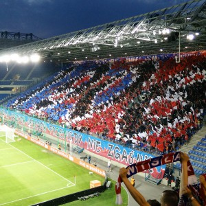 Krakow Groundhopping - Kurve mit Ultras