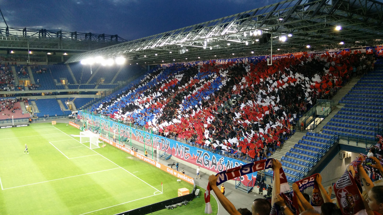 Krakow Groundhopping - Kurve mit Ultras